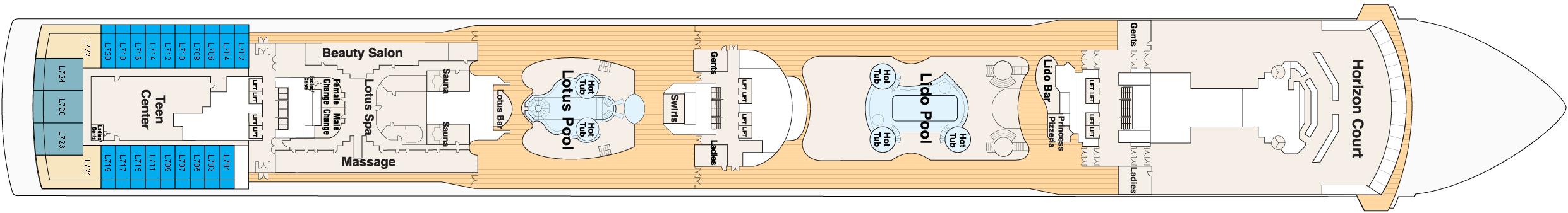 Deck 14 – Lido